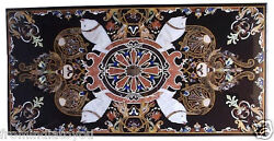 30x60 Marble Dining Table Top Italian Outdoor Inlay Work Marquetry Decor H2371