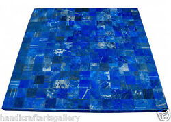 36 Marble Coffee Table Top Lapis Lazuli Mosaic Inlay Work Home Decor Art H2027a
