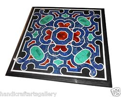 3'x3' Marble Dining Coffee Table Top Real Inlaid Pietradura Cyber Monday Gifts