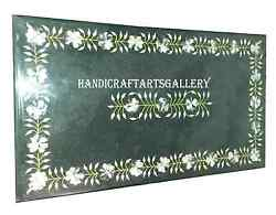 2.5and039x5and039 Marble Dining Table Top Inlay Marquetry Mosaic Gemstone Home Deco H934a