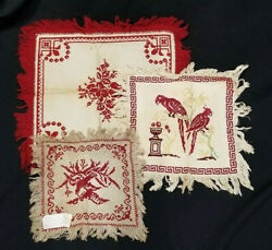 ANTIQUE TAPESTRY LOT OF 3