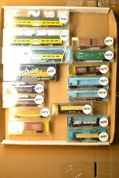N Scale Cars Sold Individually, Misc Flat Box Bi Level Pax Sp Up Gtw 3m Cnw