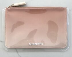 BURBERRY Beauty tan ombre pouch toiletry makeup case cosmetic travel bag clutch $26.50