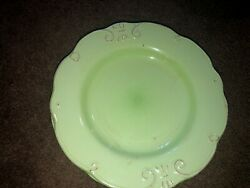 Mulberry Home Collection M1d4 Green Dinner Plate Scroll Distressed Scallop 2 Set