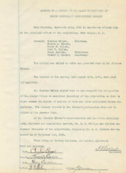 Thomas A. Edison - Corporate Minutes Signed 09/10/1925 With Co-signers