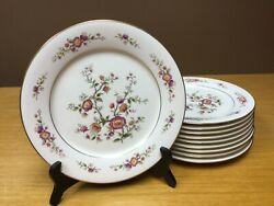 """10 Noritake 7151 Asian Song 10 5/8"""" Dinner Plates Excellent"""