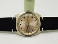 Rare 1956 Huge Omega Chronometer Silver Dial Date Auto Cal561 Manand039s Watch