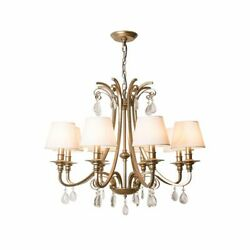 Retro Ceiling Fixture Chandelier Hang Lamp Classic Metal Crystal Lighting Decors