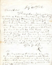 Rutherford B. Hayes - Autograph Letter Signed 07/20/1862