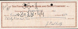 J. Paul Getty - Autographed Signed Check 12/18/1943 With Co-signers