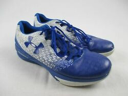 Under Armour ClutchFit Drive 3 Blue White Basketball Shoes Men#x27;s 15 Used $25.99
