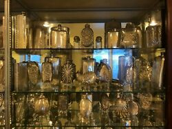 fabulous collection of 220 sterling silver hip or liquor flasks 1350oz 1768-2000