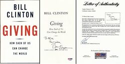 To Mike - Bill Clinton Signed Giving Book Dated 9-14-07 42nd President - Psa/dna