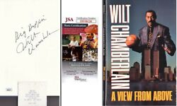 Wilt Chamberlain Signed Hardcover Book With Big Dipper - Deceased 1999 - Jsa Coa