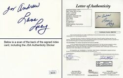 To Andrew - Lucille Ball Signed 3x5 Index Card I Love Lucy - Deceased 1989 - Jsa