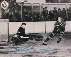 Harry Lumley + Ted Kennedy Signed Autographed Toronto Maple Leafs Photo Deceased