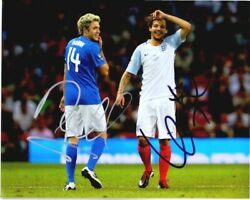 Niall Horan + Louis Tomlinson Signed 1d One Direction Soccer 8x10 Inch Photo