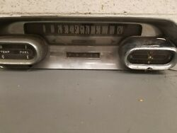 1958 Cadillac Dashboard And Clock Vintage Used