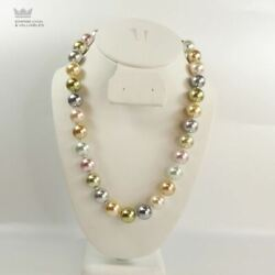 Kjl 14mm Inaugural Simulated Pearl Necklace W/pouch And Box  W1f1
