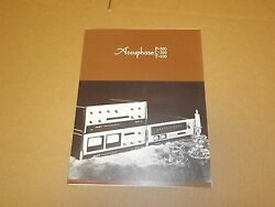 Accuphase P300 C200 T100 Amplifier Preamp Tuner Original Brochure / Catalog