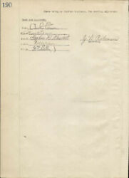 Thomas A. Edison - Corporate Minutes Signed 02/04/1919 With Co-signers