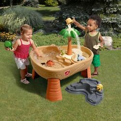 Sand Box Table Sand Water Play Kids Cover Activity Toys Dinosaur Accessory Set