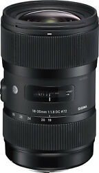 Sigma 18-35mm F1.8 Art Dc Hsm Lens For Sony A Mount. U.s Authorized Dealer