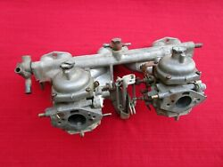 Matched Pair Zenith Stromberg 150 Cd Carburetors And Intake Manifold Triumph Gt6