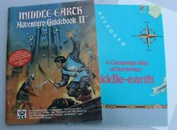 1st Edition Lotr Middle Earth Role Playing Adventure Guide Ii W/ Map Poster 2210
