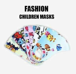 Kids Face Mask Reusable Washable Cloth Protection Cover Stretch Handmade    $3.79