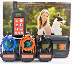 Underground Dog Containment Electric Fence And Remote Shock Collar Bark E Collar