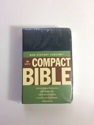 💥ncv Compact Bible Blue Bonded Leather, Gilded Silver Page Edges-new/sealed
