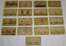 Lot 17 Stereoviews Boston Suburbs Real Photos Faneuil Hall, Dock Square 20-69