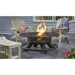 New 47 Ranch Fire Pit With Bbq Grate Table Ring Garden Backyard Durable Firepit