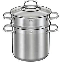 Rosle Stainless Steel Pasta Pot Glass Lid, One Size Kitchen Andamp Dining