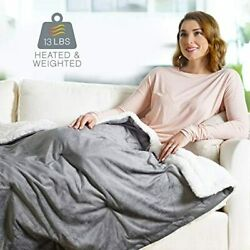 Weightedwarmth - 2-in-1 Original Heated Blanket 50andrdquo X 60andrdquo 13lbs 4