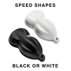 Speed Shapes Black / White Plastic Paint Model/display Hydrographics - 500 Pack