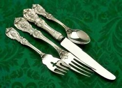 Francis I Sterling Silver-reed And Barton 4 Piece Dinner Size Place Setting, New