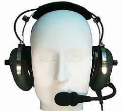 Military Aviation Active Pilot Headset Noise Cancelling Tactical Style Bose