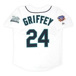 Ken Griffey Jr. Seattle Mariners 1997 Menand039s Home Jersey W/ Jackie 50th Patch