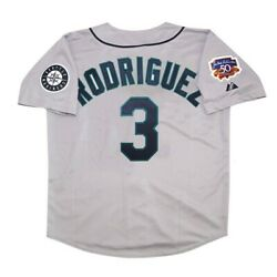 Alex Rodriguez Seattle Mariners 1997 Grey Road Men's Jersey W/ Jackie 50th Patch