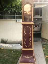 1880andrsquos German Lenzkirch Grand Father Clock Measurements 6and0394 Inches Tall