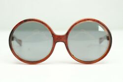 VTG Polaroid Cool Ray Sunglasses 220 Social Eyes Marbled Brown Large Round $89.99