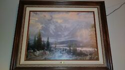 Thomas Kinkade Great North Oil On Canvas Painting Archive E/p132