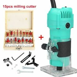Woodworking Electric Trimmer Wood Milling Hand Router Wood Carving Machine Tools