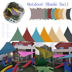 Sun Shade Sail Patio Outdoor Canopy Pool Uv Block Cover Triangle Square Shade