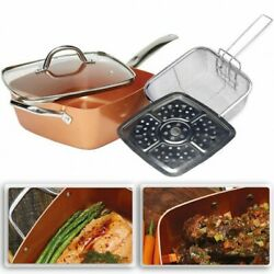 Poandecircle Red Copper Pan