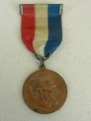 Centennial Of Abraham Lincoln Bronze Medal With Ribbon Very Rare