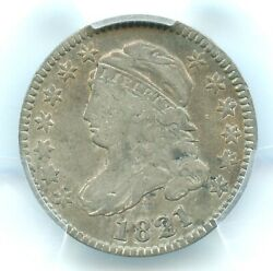 1821 Large Date Capped Bust Dime Pcgs Vf25