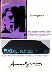 Andy Warhol Signed - Autographed Popism The Warhol '60s Book - Deceased 1987